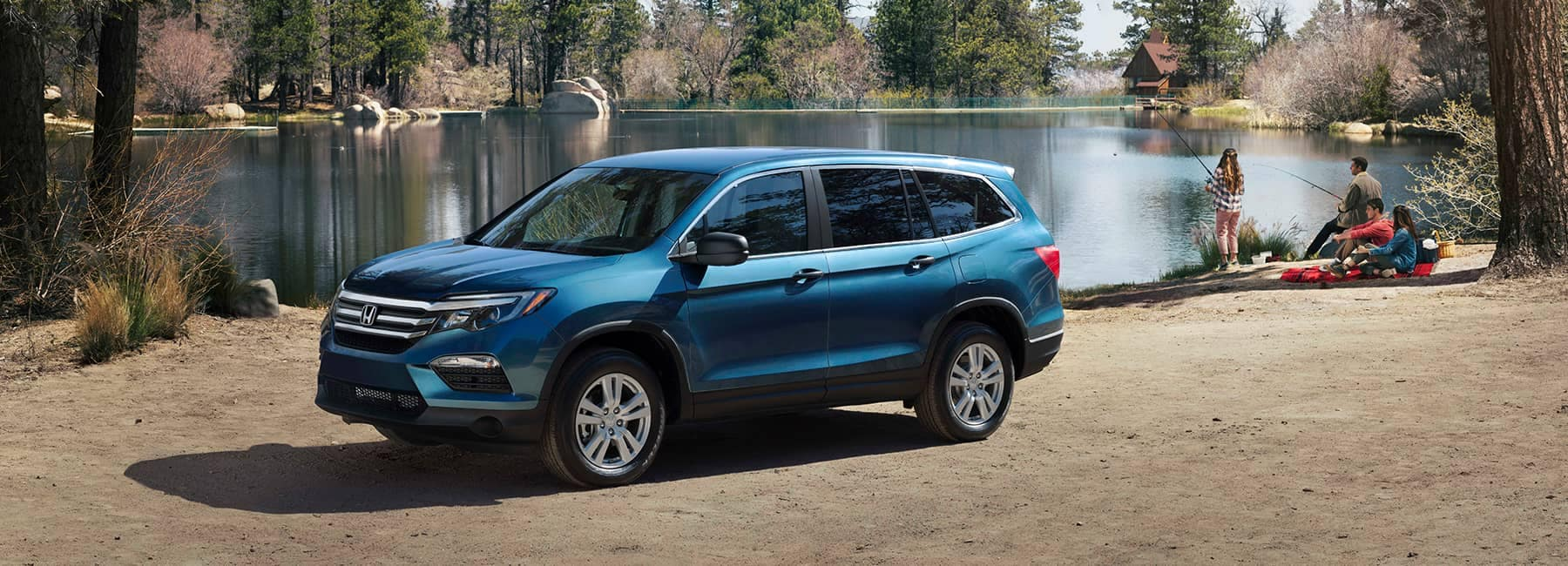 2018 Honda Pilot Parked By a Lake