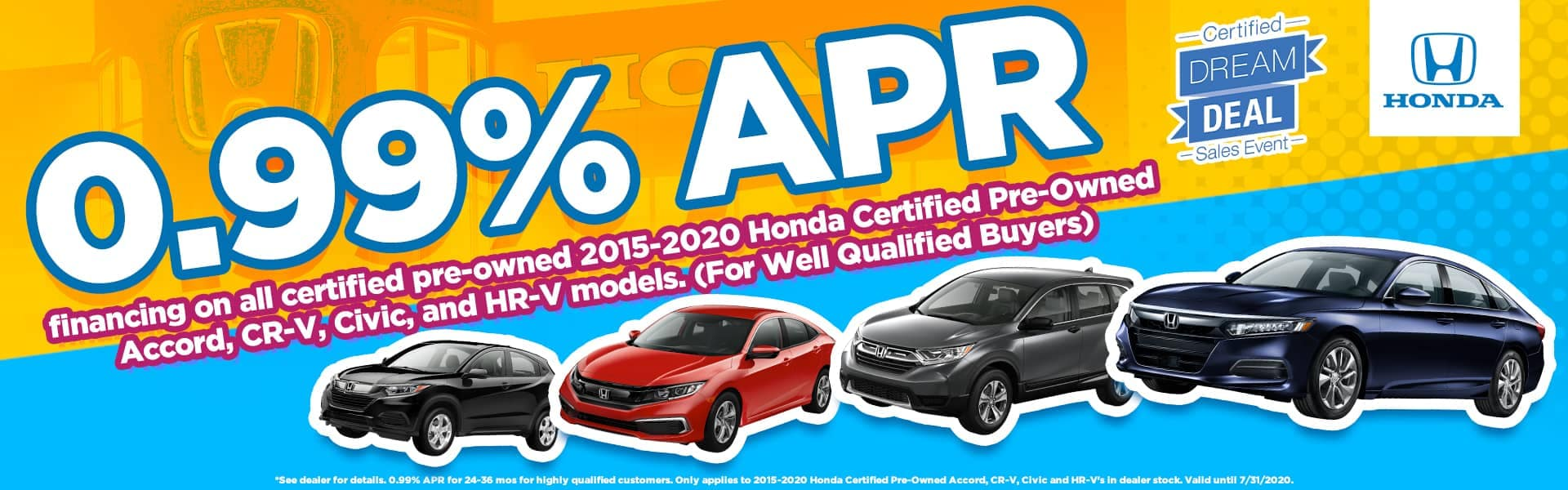 0.99% APR Financing on Honda CPO