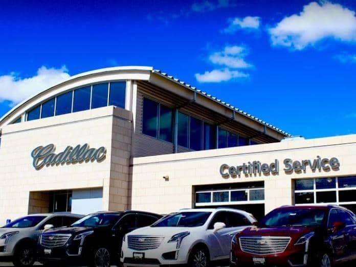 Huber Cadillac certified Service entrance