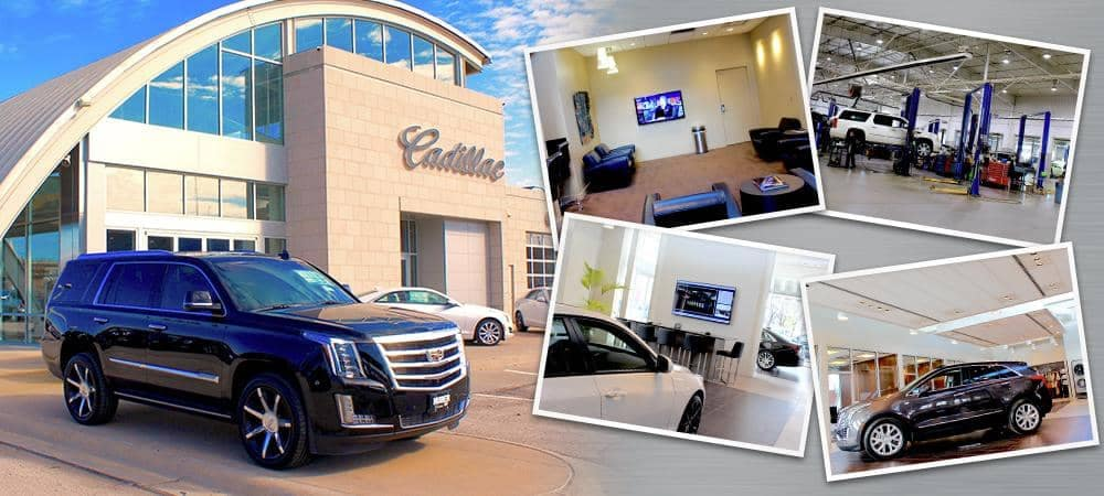 collage of exterior & interior photos of the dealership