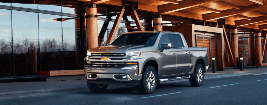 2019 silverado 1500 parked under a bridge