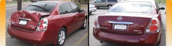 red nissan altima before and after photos