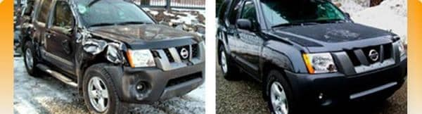 nissan suv before and after damage photos