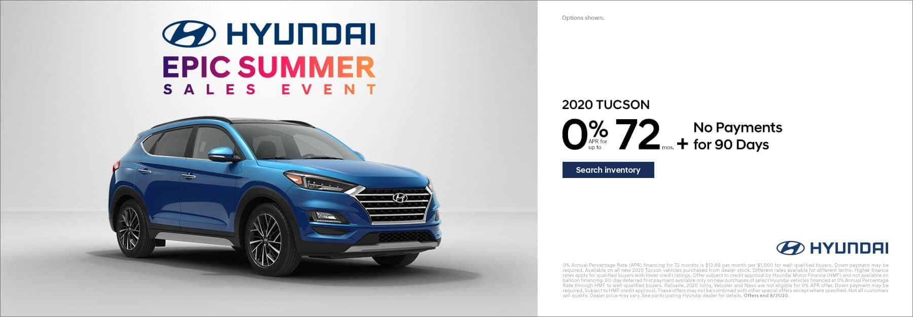 Hyundai Epic Summer Sales Event Slider Image