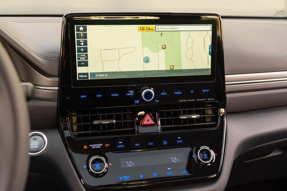 2021 IONIQ Hybrid control panel and infotainment system