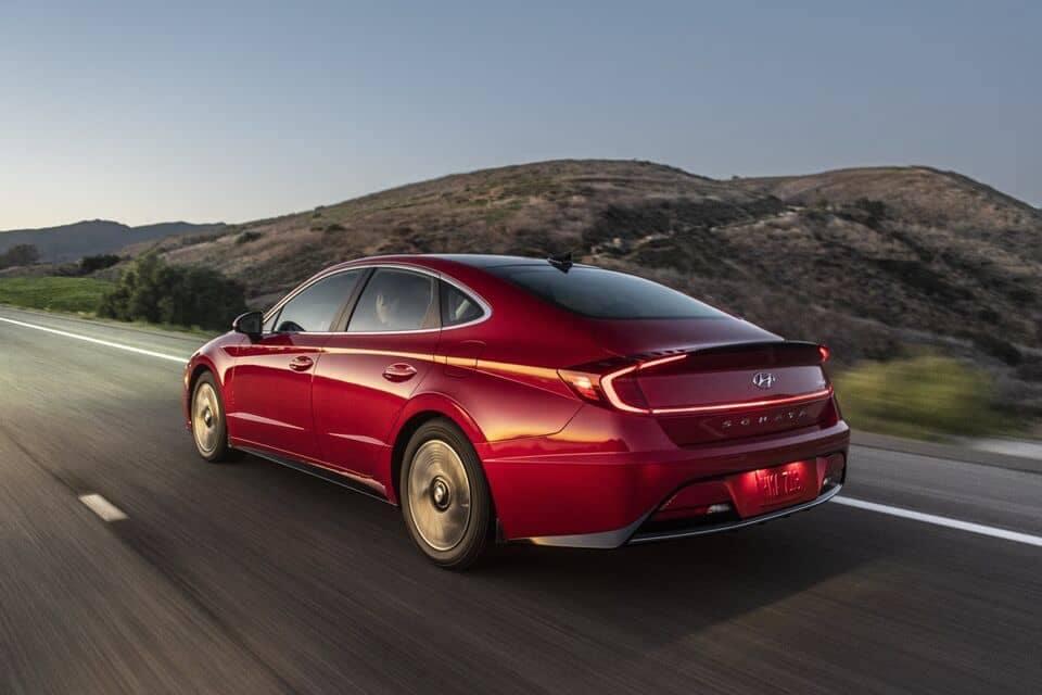 2021 Sonata Hybrid driving open road