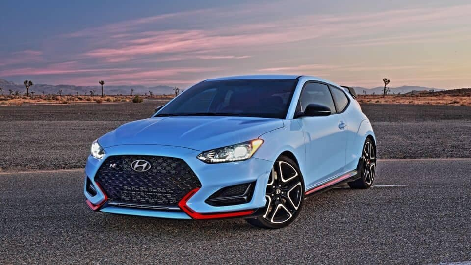 2021 Veloster N frontal view