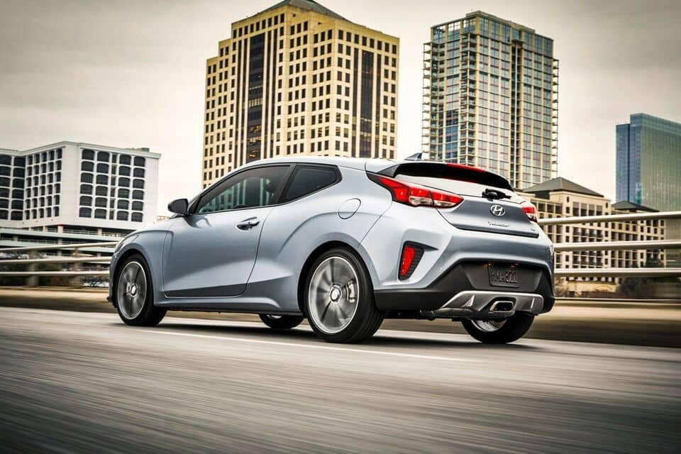 2021 Veloster driving in the city