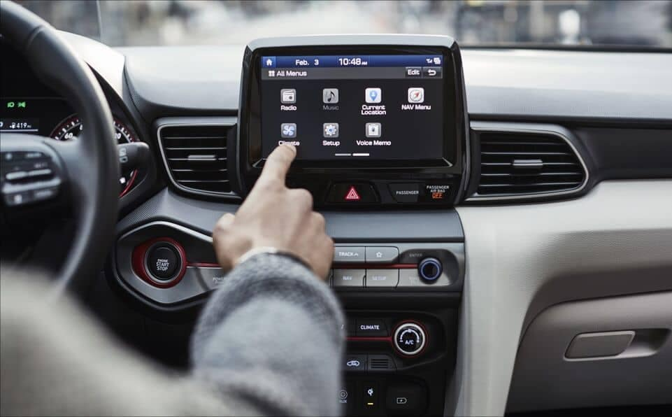 2021 Veloster infotainment system