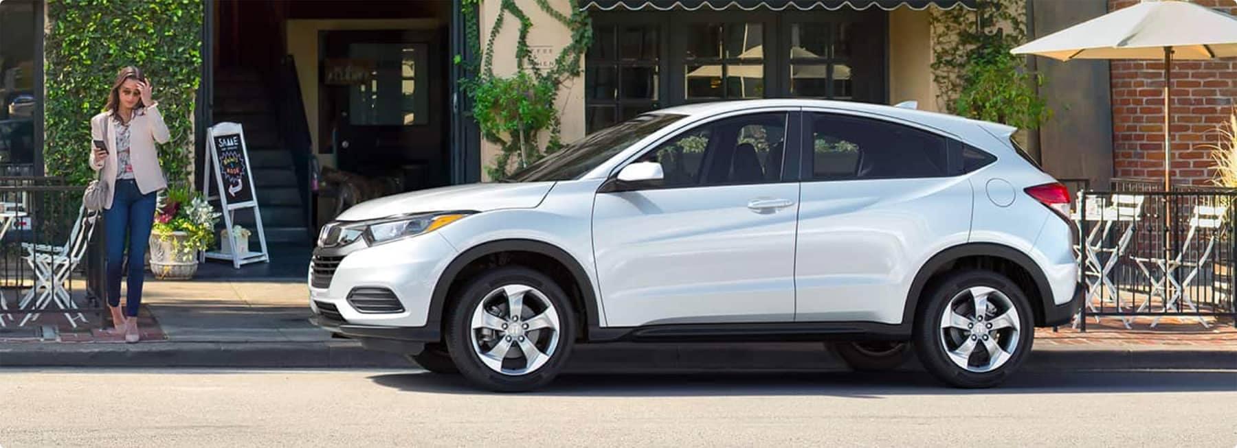 White Honda SUV