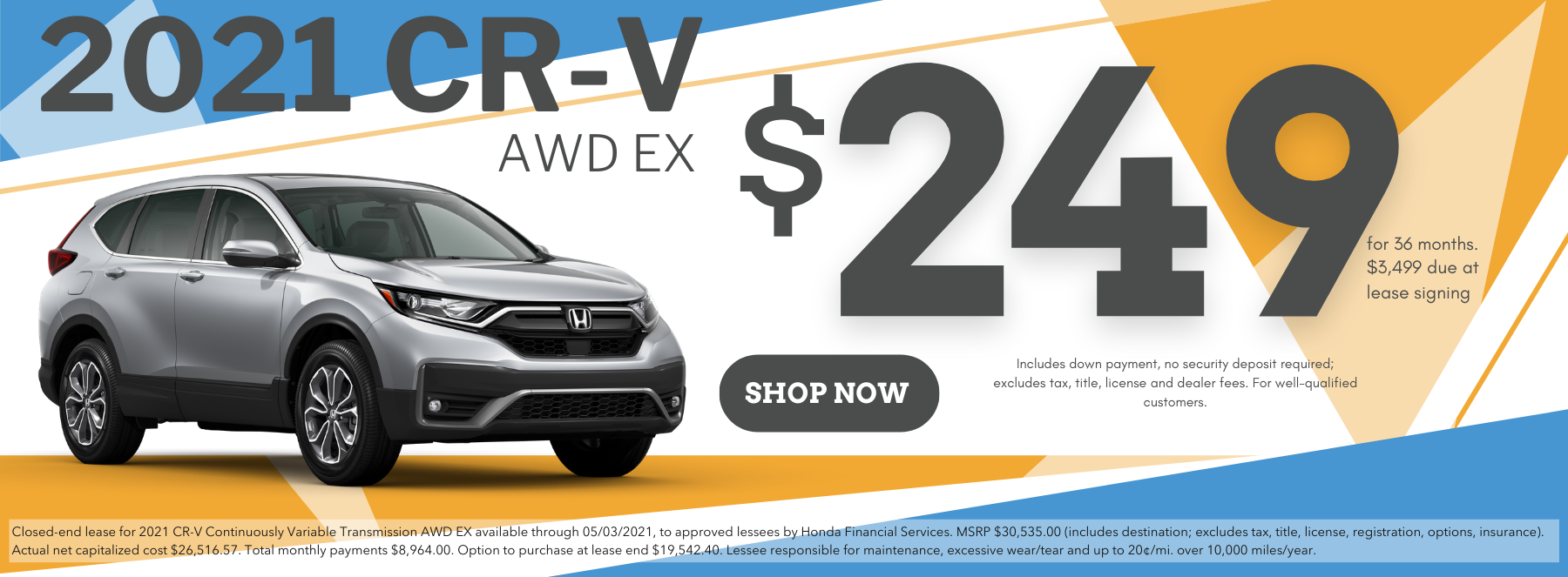 2021 CR-V Lease March