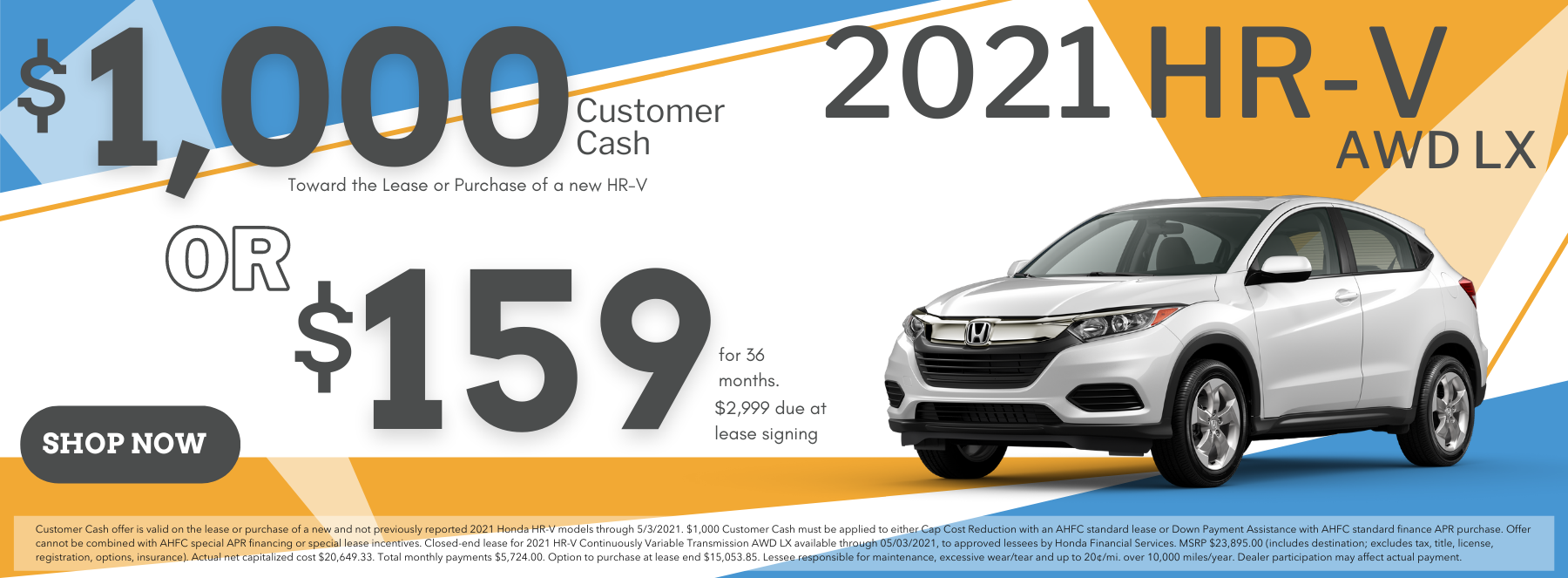 2021 HR-V Lease March