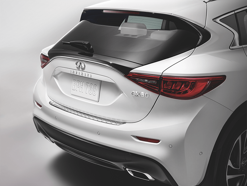 QX30 STAINLESS STEEL REAR BUMPER PROTECTOR
