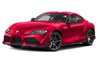 Angled view of the 2020 Toyota GR Supra