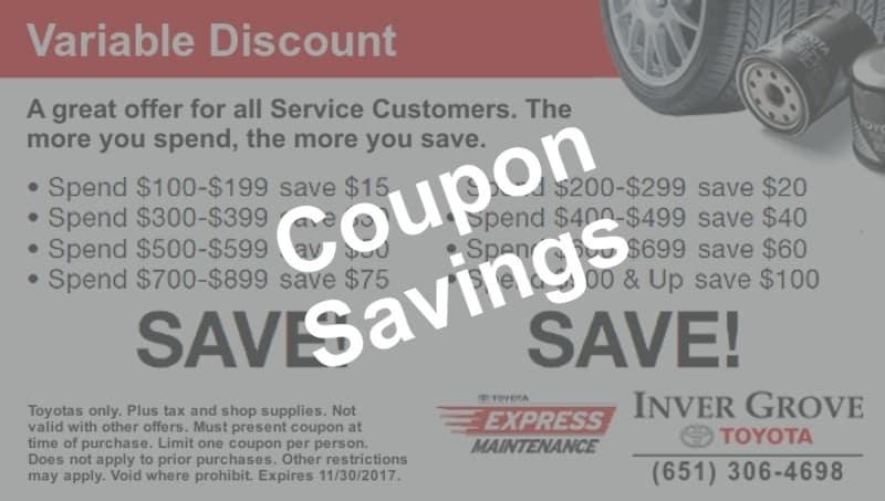 Toyota service discount coupons