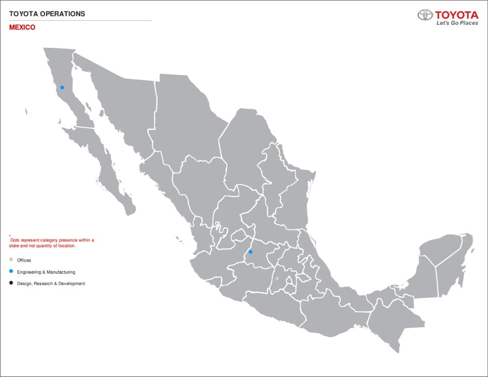 Toyota-Operations-Mexico-Map