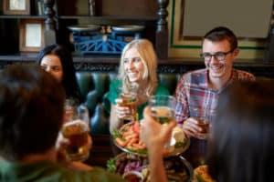 Friends at Irish Pub