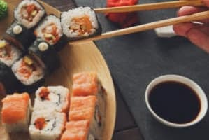 Sushi and Chopsticks