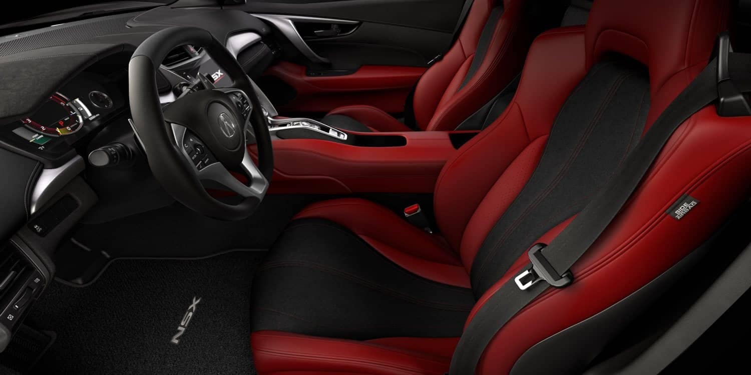 2017 Acura NSX Red Interior