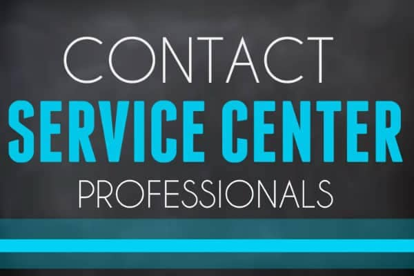 Contact Service Center Button