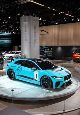 Jaguar I-PACE hits the track