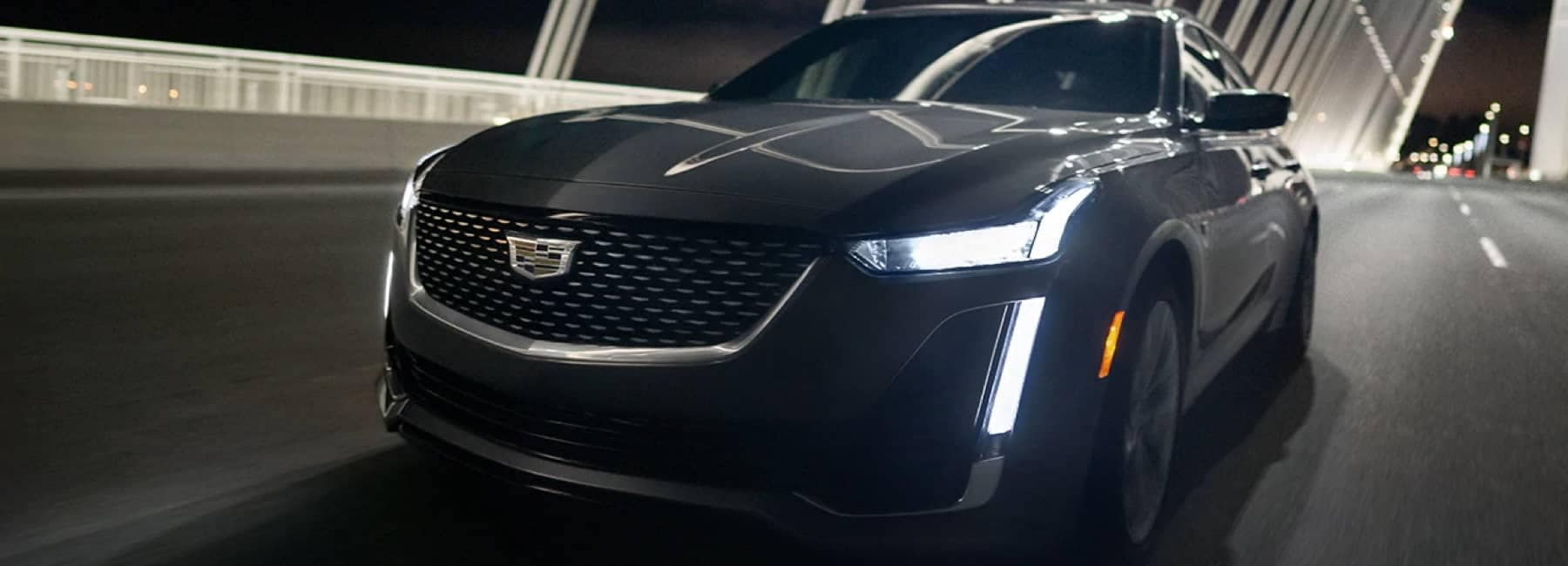 2020 CT5 Front Grille driving at night