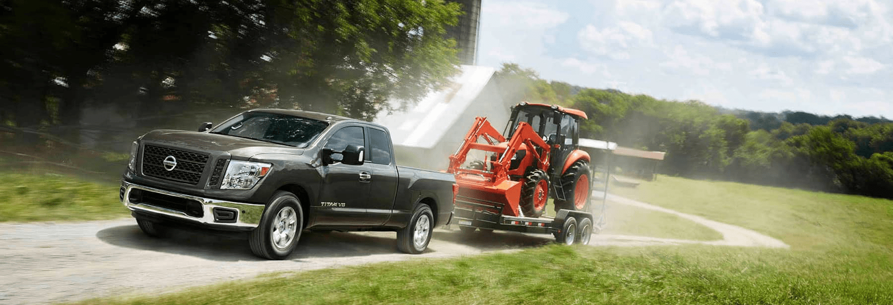 2019 Nissan Truck Pulling Cargo