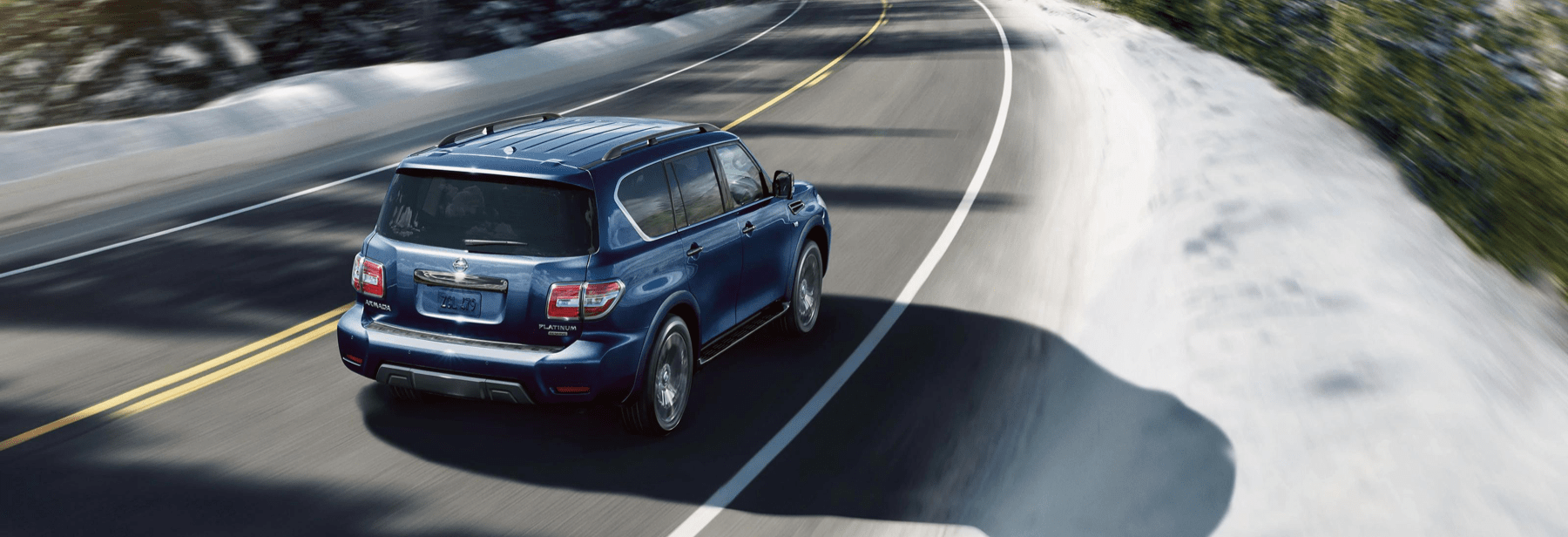 2020 Nissan Armada driving on highway