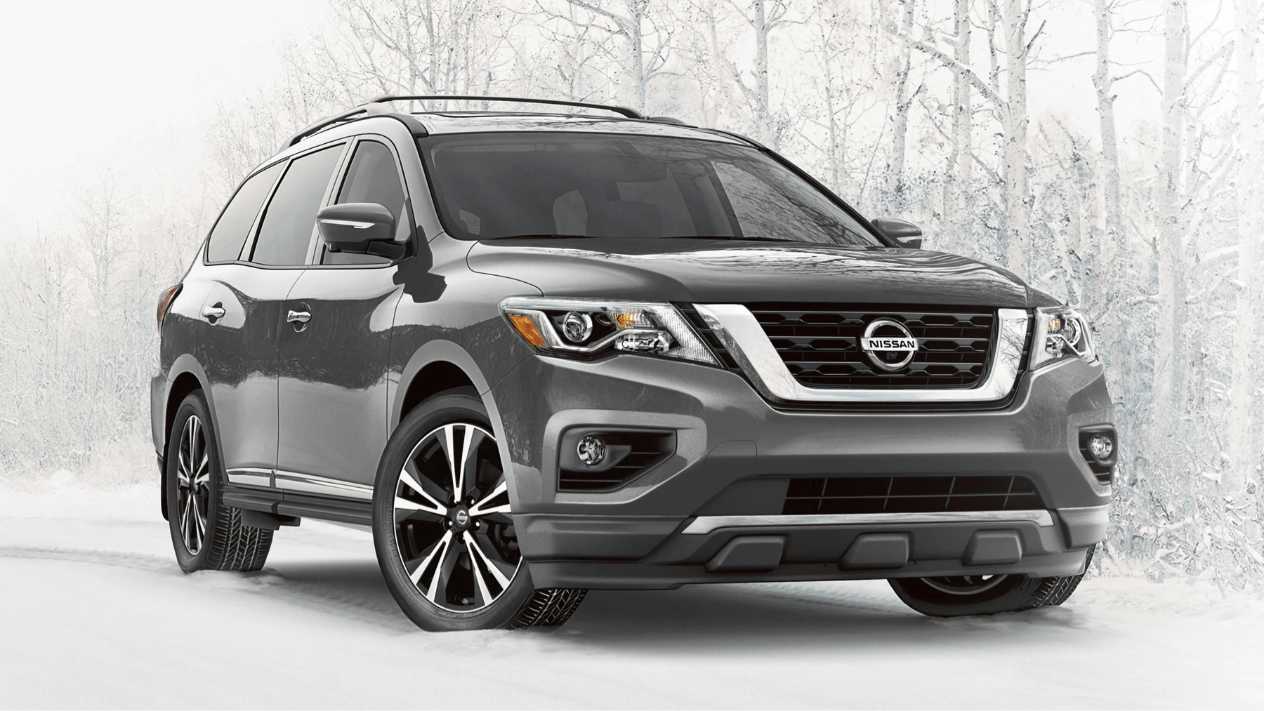2020 Pathfinder driving in snow