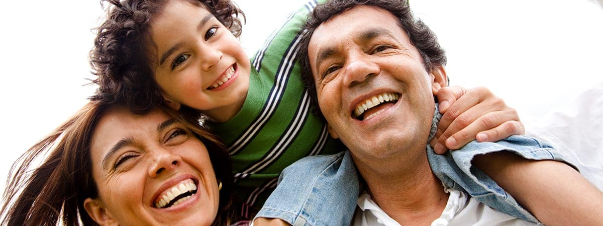 Hispanic family banner