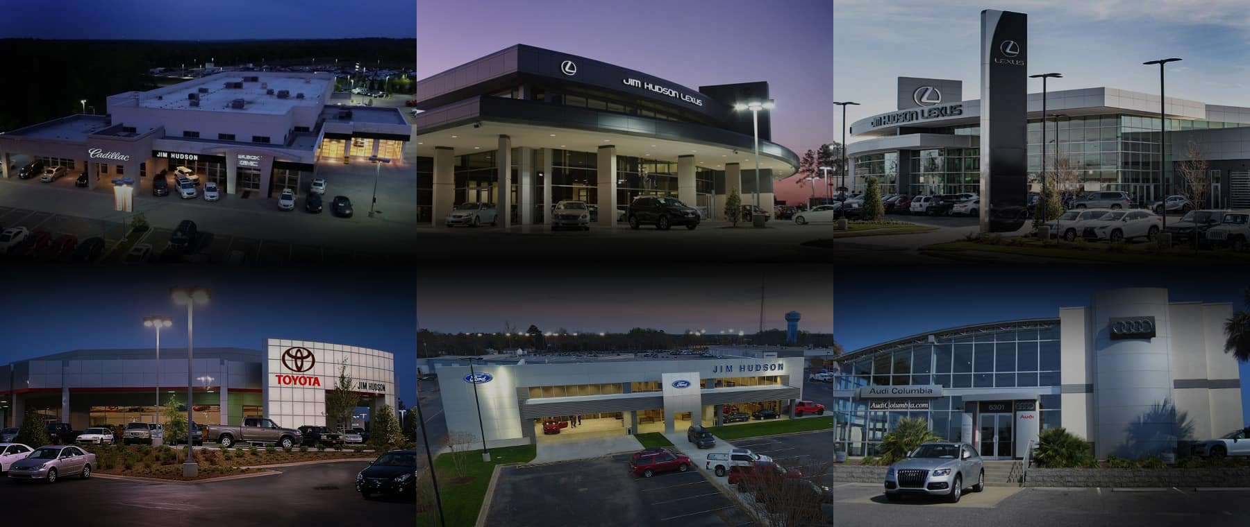 Multiple pictures of dealerships