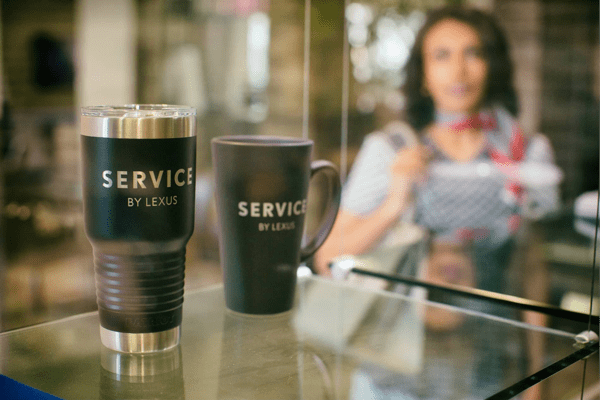 Lexus service coffee cups