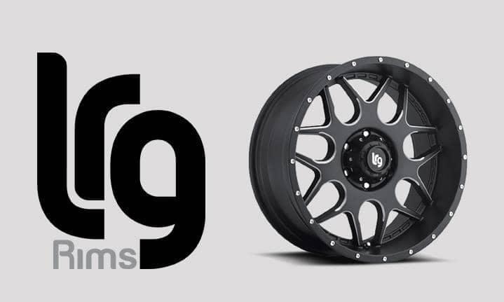 LRG alloy rims logo