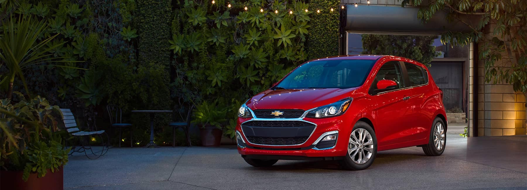 2020 Red Chevy Spark Parked at Angle