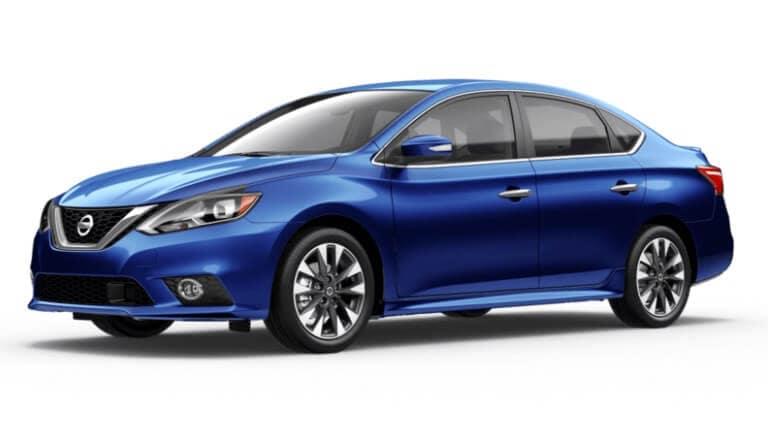 A blue 2019 Nissan Sentra SR