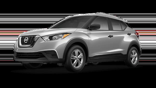 A silver 2019 Nissan Kicks S