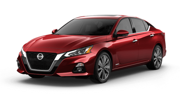 A red 2019 Nissan Altima Edition One VC-Turbo