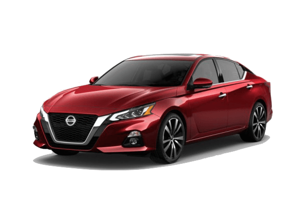 A red 2019 Nissan Altima