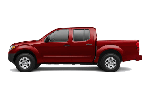 A red 2019 Nissan Frontier