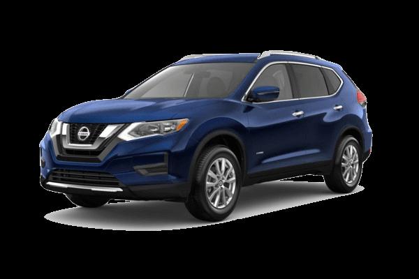 A blue 2019 Nissan Rogue
