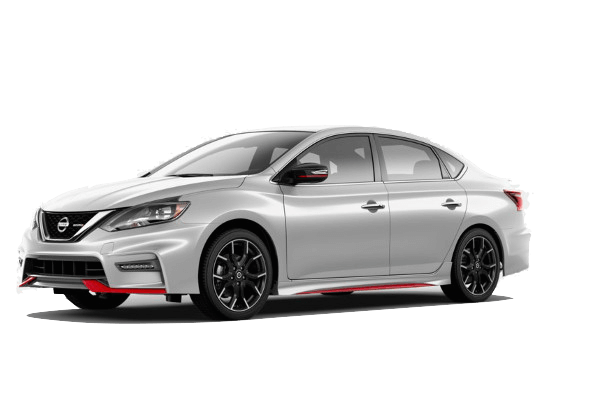 A white and red 2019 Nissan Sentra