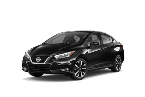 A black 2019 Nissan Versa