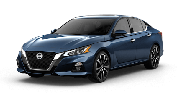 A blue 2019 Nissan Altima Platinum VC-Turbo