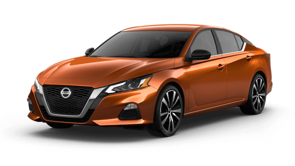 An orange 2019 Nissan Altima SR
