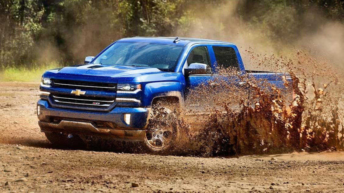 Silverado In The Mud