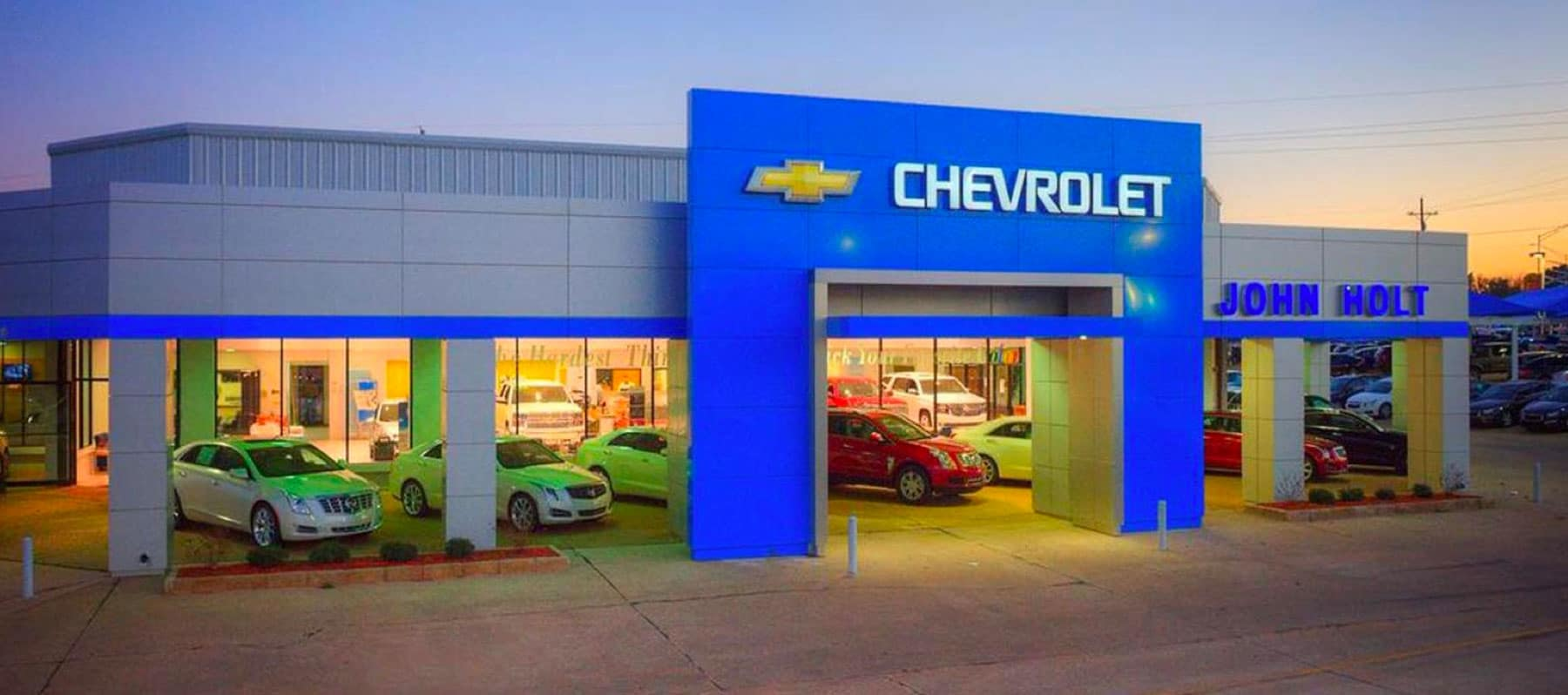 Exterior shot of the dealership