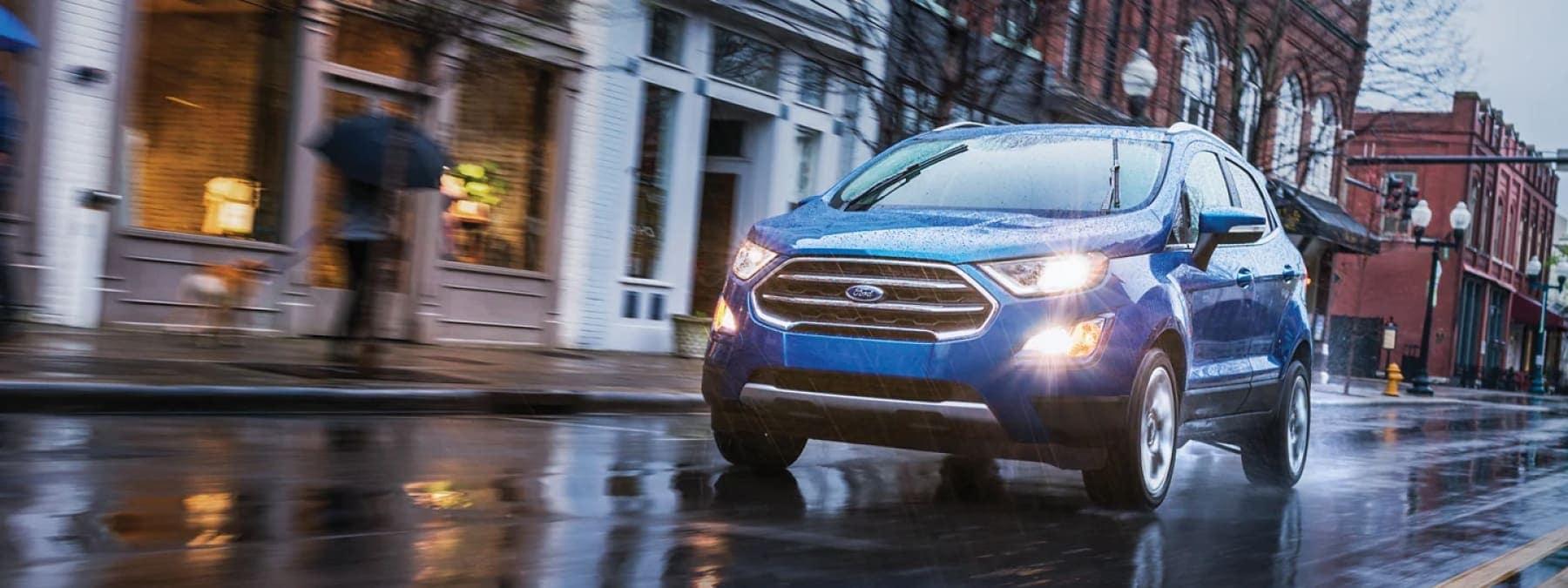 Blue Ford Edge