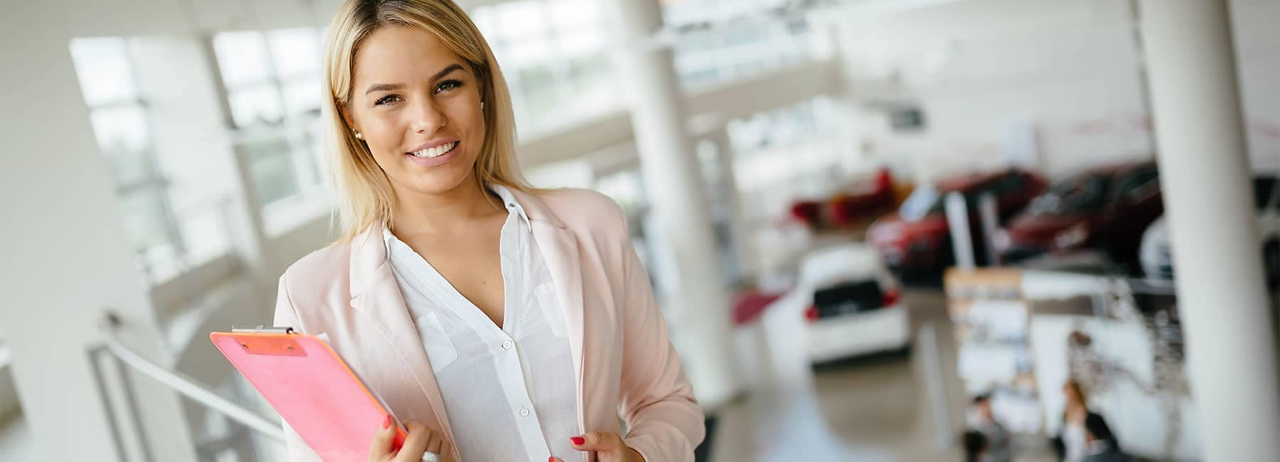 Business Woman at Dealership
