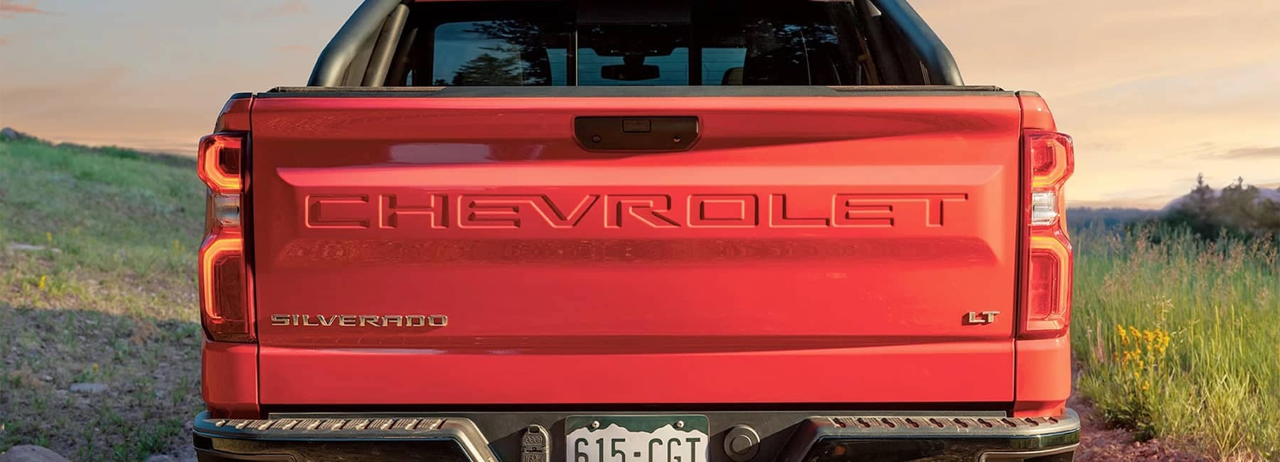Silverado Crew Cab Short Bed LT Trail Boss in Red with Sport Bar and cover