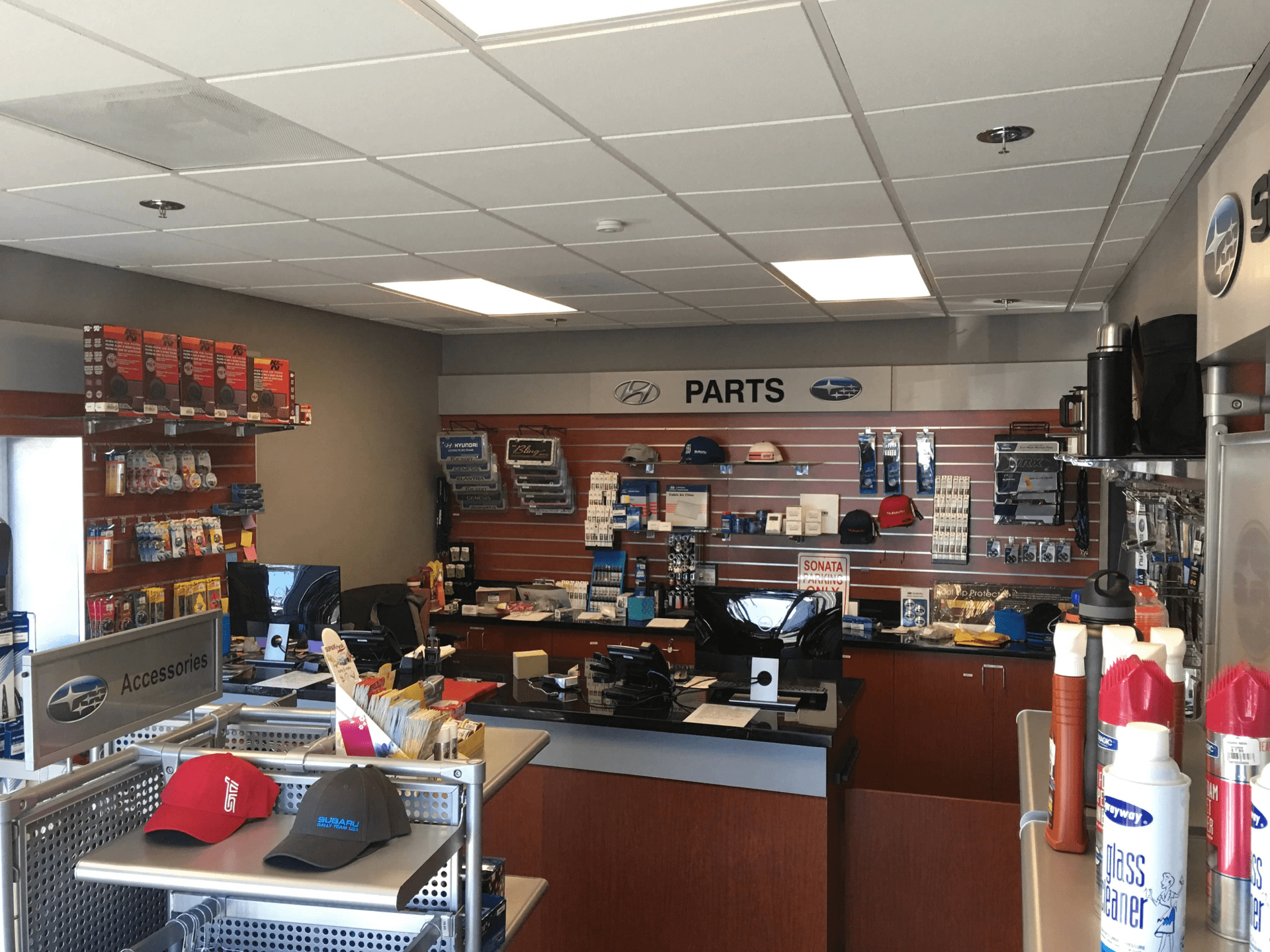 Sales counter for parts department